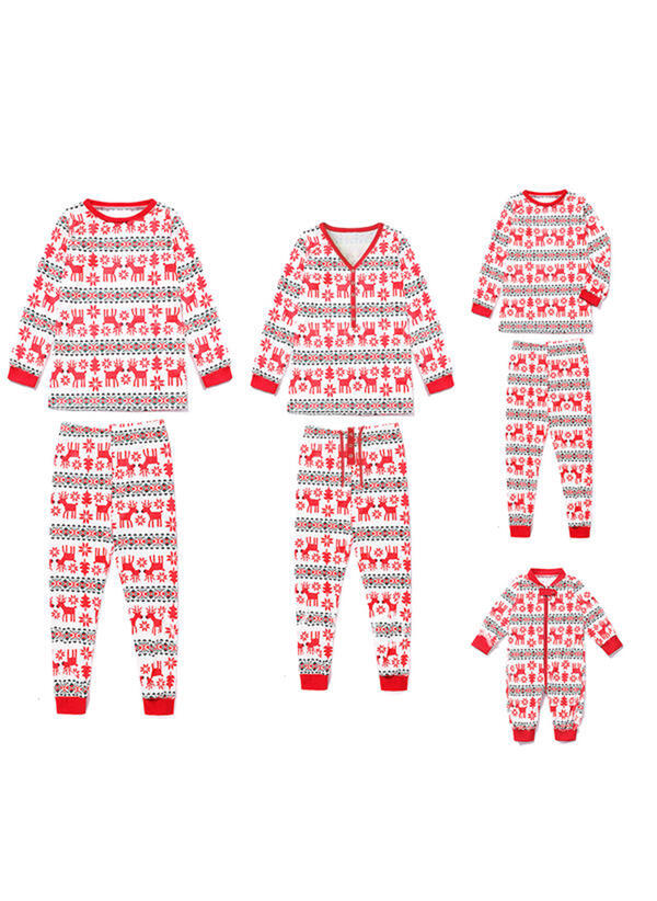 Rensdyr Familie Matchende Jul Pyjamas