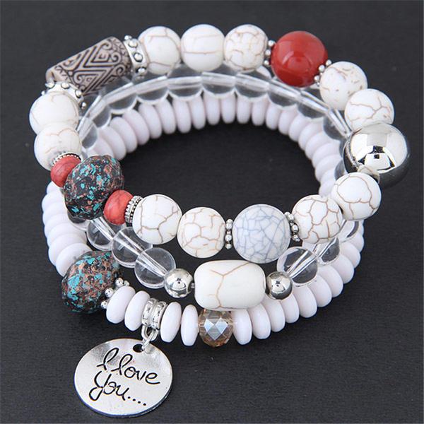 Unique Alliage Résine Femmes Bracelets de mode