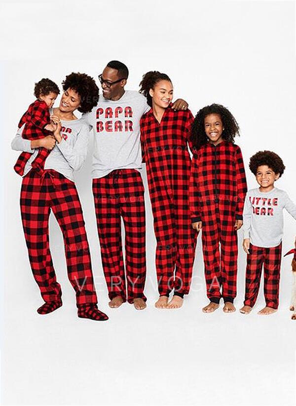 Tartan Lettera Famiglia Partita Di Natale Pajamas