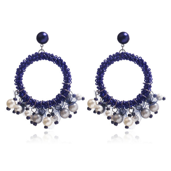 Chic Imitation Pearls Fashion Earrings
