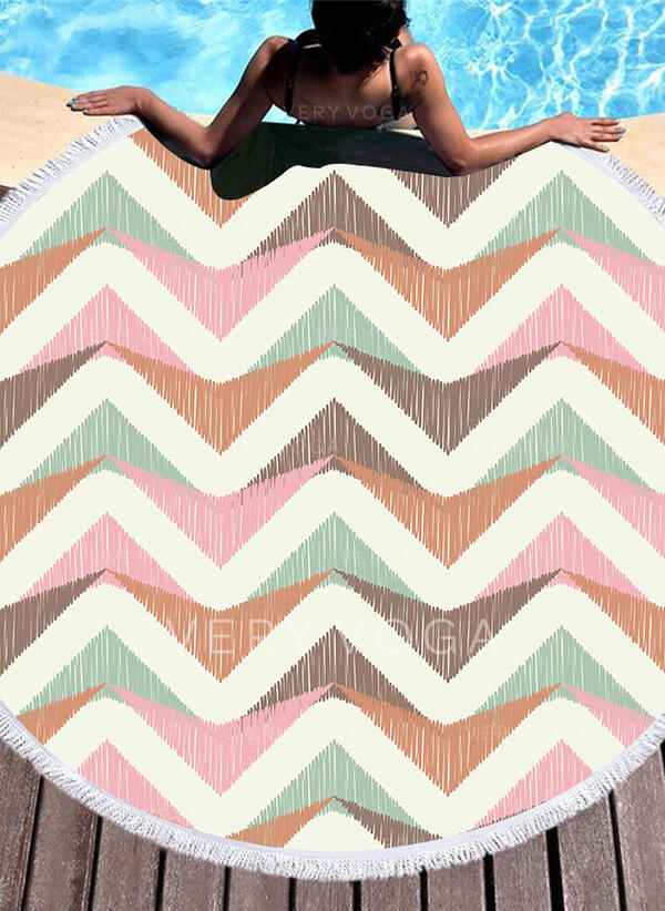 Retro/Vintage/Geometric Print fashion/Boho Beach Towel