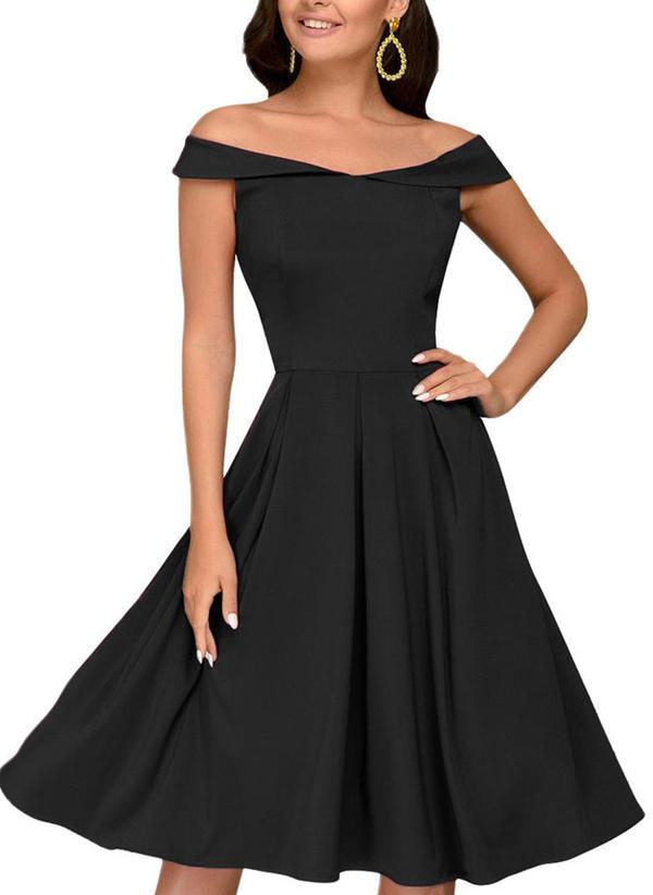 3789e6302894 Αμάνικο Φαρδύ κάτω Μήκος γόνατος Κρασί/Μικρά μαύρα φορέματα/Σέξι/Πάρτι  φορέματα