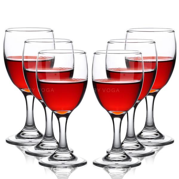 Classic Glass Wine Glasses (Set of 6)