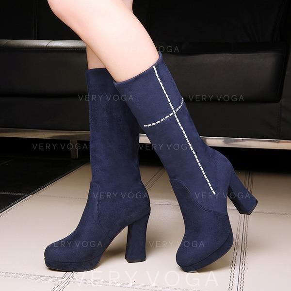 Mulheres Camurça Salto robusto Botas com Outros sapatos