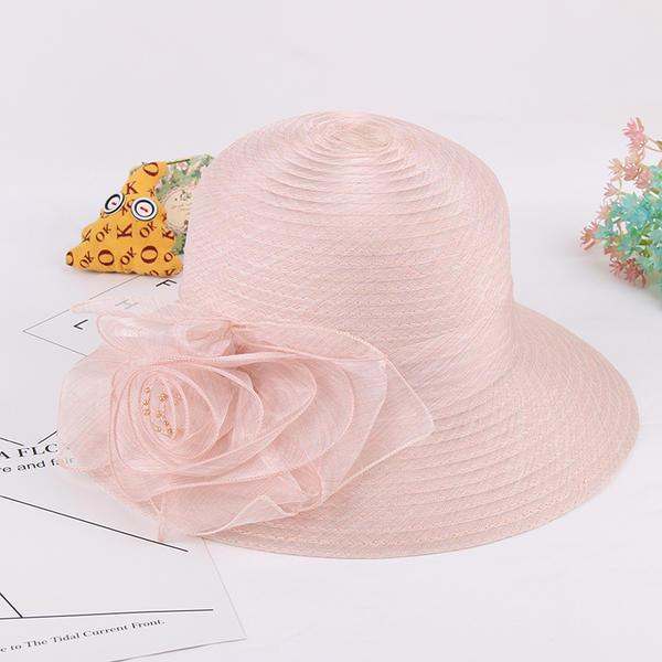 be5c4f0444406 Ladies  Beautiful Elegant Vintage Organza With Silk Flower Bowler Cloche  Hats