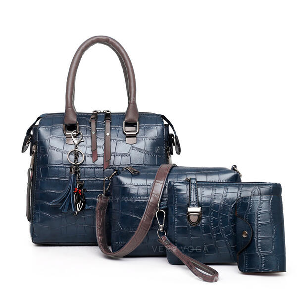 De moda/Patrón litchi Conjuntos de bolsa