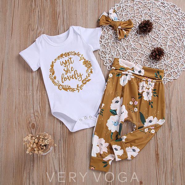 afe231cd06 Baby & Kleinkind Mädchen Blumendruck Baumwolle Pants,Body,Stirnband Stellen  Sie Größe