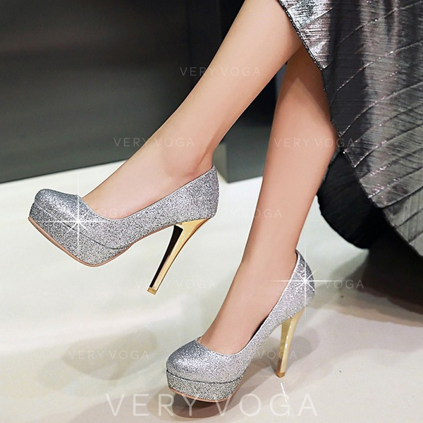 3255dd1cd21 Women s Sparkling Glitter Stiletto Heel Pumps Closed Toe With Sparkling  Glitter shoes