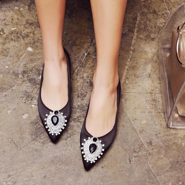 Femmes Similicuir Talon plat Chaussures plates Bout fermé avec Boucle Autres chaussures