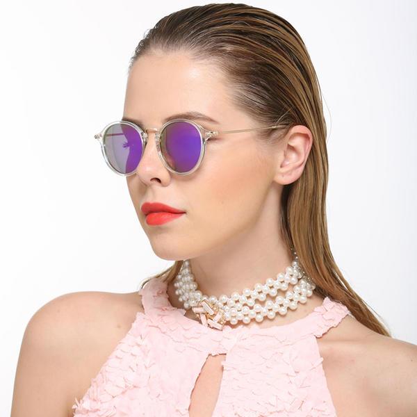 UV400/Polaryzacja Szyk Okrągły okulary przeciwsloneczne
