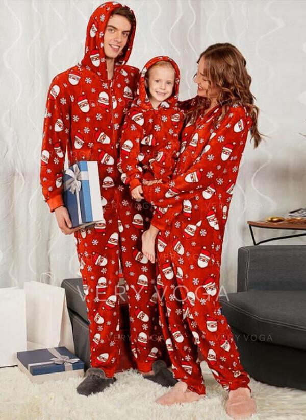 Père Noël Inmprimé Tenue Familiale Assortie Pyjama De Noël