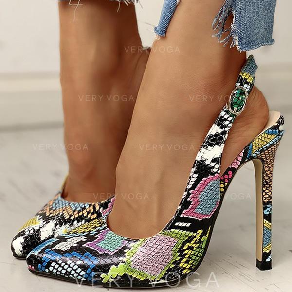 Vrouwen PU Stiletto Heel Pumps met Gesp schoenen