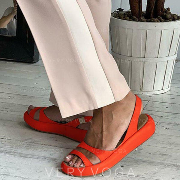 PU Senza tacco Sandalo Ballerine Punta aperta con Altrui scarpe