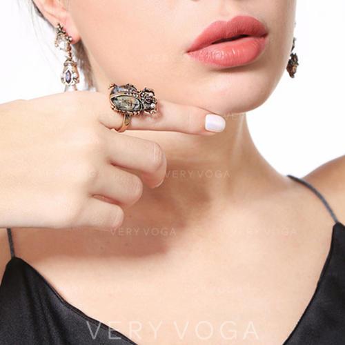 Einzigartig Legierung mit Juwel Frauen Ringe