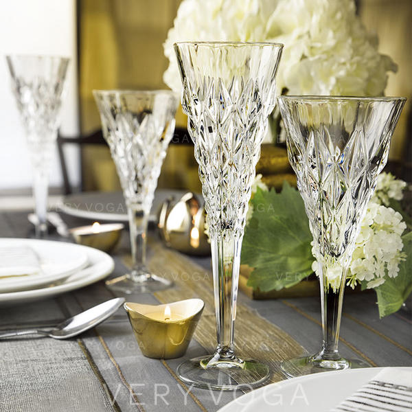 Klassische Art Glas Champagnergläser (satz 6)