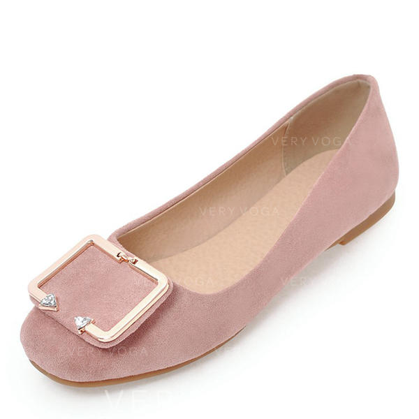 f4d4f36a34 [US$ 35.99] Donna Camoscio Senza tacco Ballerine Punta chiusa con Fibbia  scarpe - VeryVoga