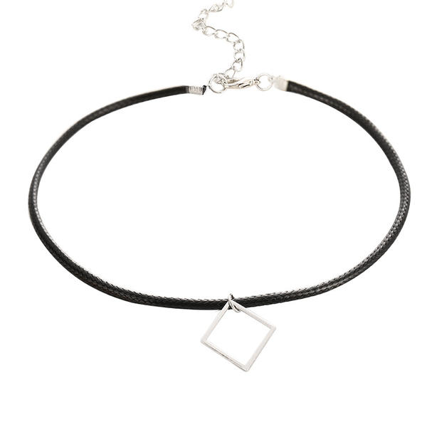 Stylish Alloy Leather Rope Women's Fashion Necklace (Sold in a single piece)