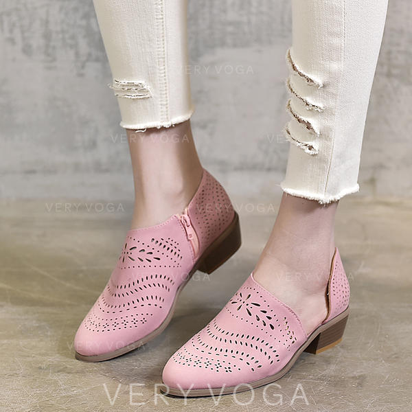 351286770eb De mujer PU Tacón bajo Sandalias zapatos (085260557) - Salón ...