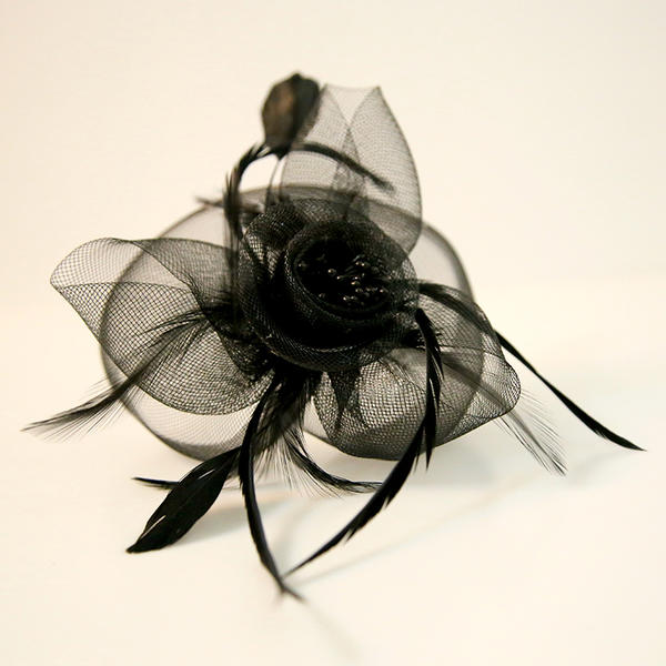 Dames Beau Feather/Fil net Chapeaux de type fascinator