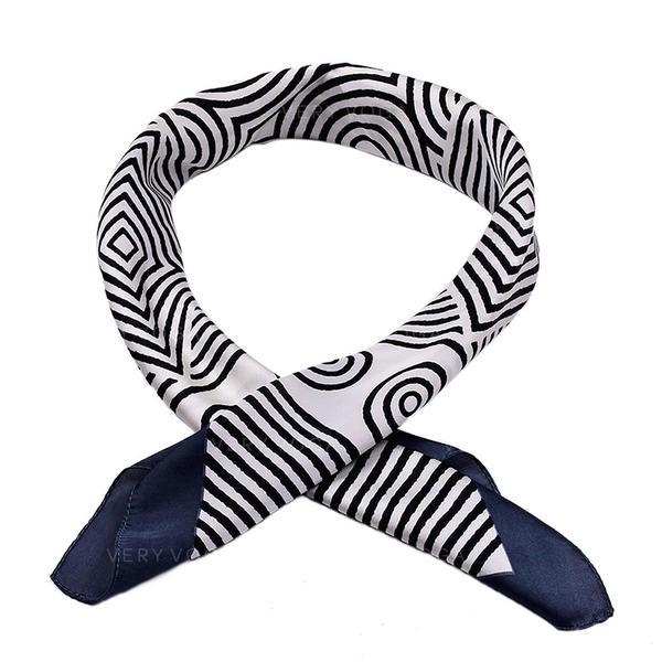 Gestreept Plein/lichtgewicht Vierkante sjaal