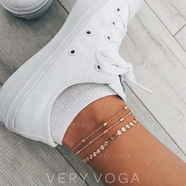 Alloy Anklets (Set of 3)