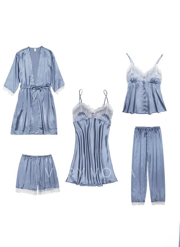 Poliéster Baby-doll Conjunto de pijama
