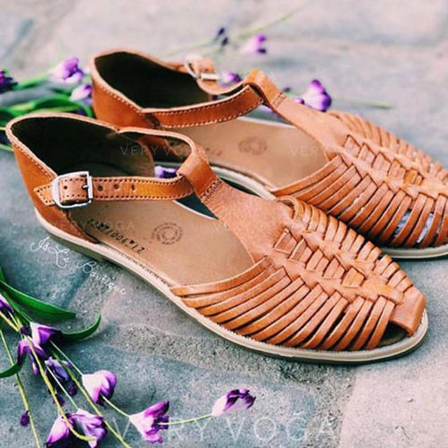 Femmes Similicuir Talon bas Sandales Chaussures plates avec Autres chaussures