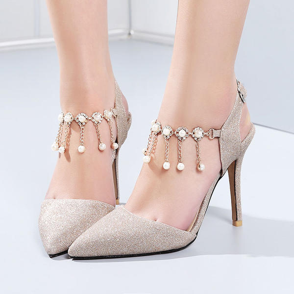 Women's Leatherette Stiletto Heel With Sequin