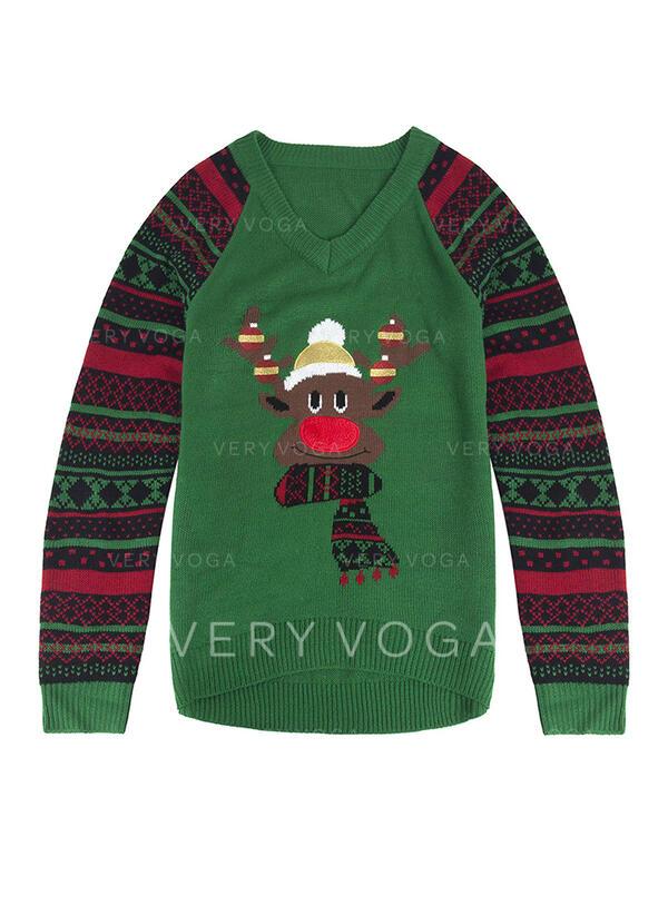 унисекс Полиэстер Распечатать олень Гадкий рождественский свитер