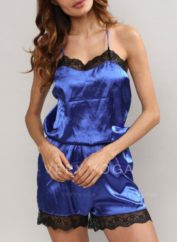 V-Neck Sleeveless Solid Color Casual Lounge Rompers