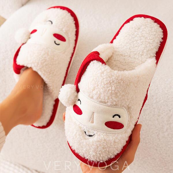 Pentru Femei Blana falsa Fară Toc Sandale Şlapi cu Aplicaţie Imprimeu Animal Blană pantofi
