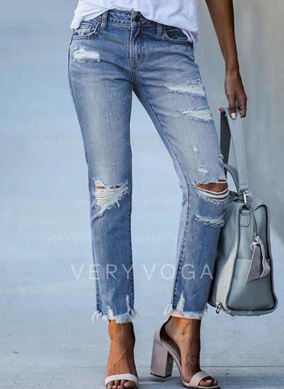 Ripped Tassel Elegant Tribal Denim & Jeans