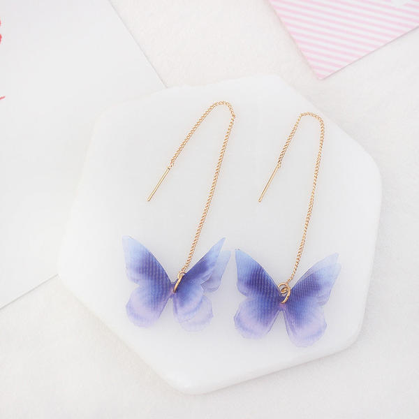 Fashionable Copper Gauze Ladies' Fashion Earrings