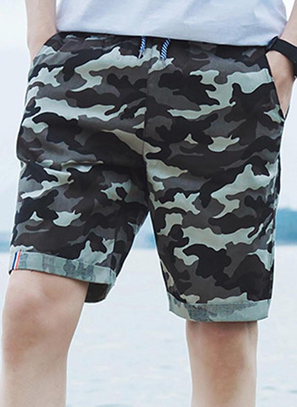 Men's Leopard Board Shorts Swimsuit