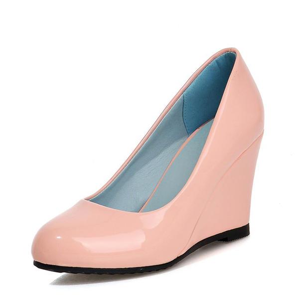 Naisten Kiiltonahka Wedge heel Avokkaat Kiilat jossa Muut kengät