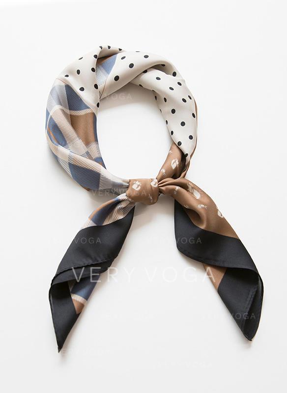Puntíky/Retro / Vintage Čtverec/Lehká váha Čtvercový šátek