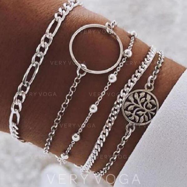 Stylish Alloy Jewelry Sets Bracelets (Set of 5)