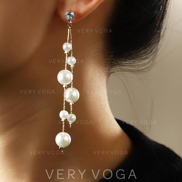 Beautiful Animal Alloy Imitation Pearls Women's Ladies' Earrings 2 PCS