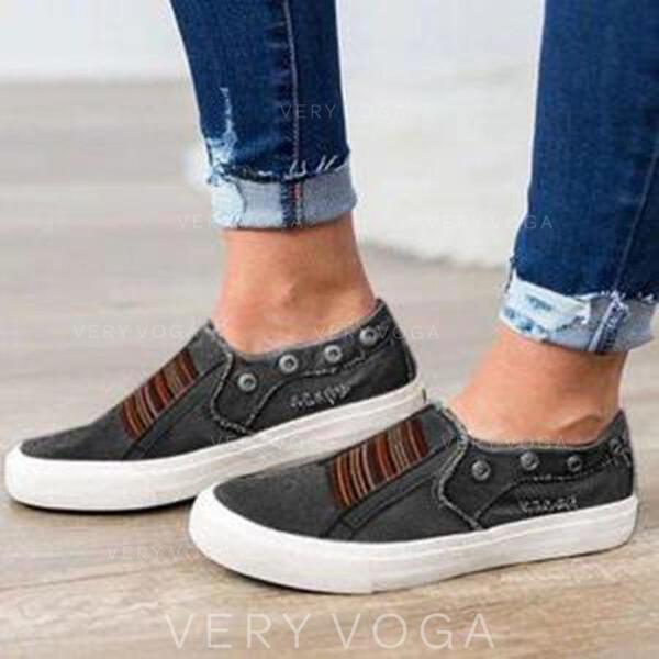 Women's Canvas Outdoor Athletic With Elastic Band shoes
