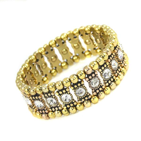 Hermoso Aleación Diamantes de imitación con Rhinestone Señoras' Pulseras de Moda