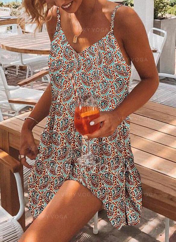 Imprimeu Kolsuz Shift Elbiseleri Deasupra Genunchiului gündelik Gecelik Elbiseler