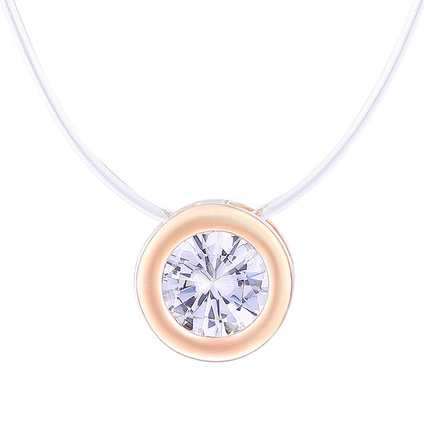 Simple Alloy Zircon With Zircon Women's Necklaces (Sold in a single piece)