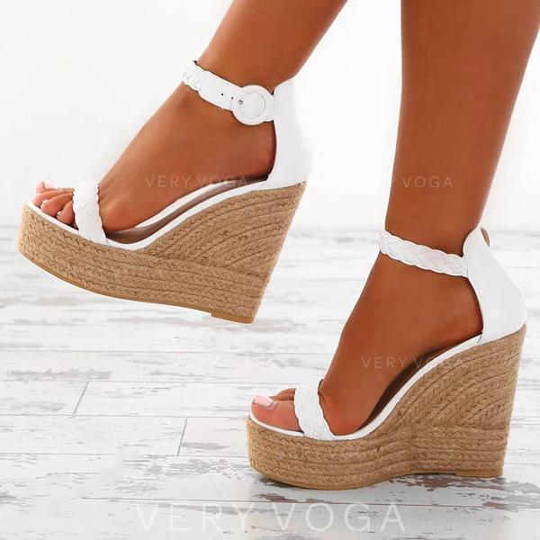 De mujer PU Tipo de tacón Sandalias Plataforma Cuñas Encaje con Otros zapatos