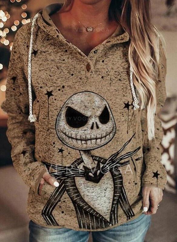 Halloween Lommer Lange ærmer Hoodie