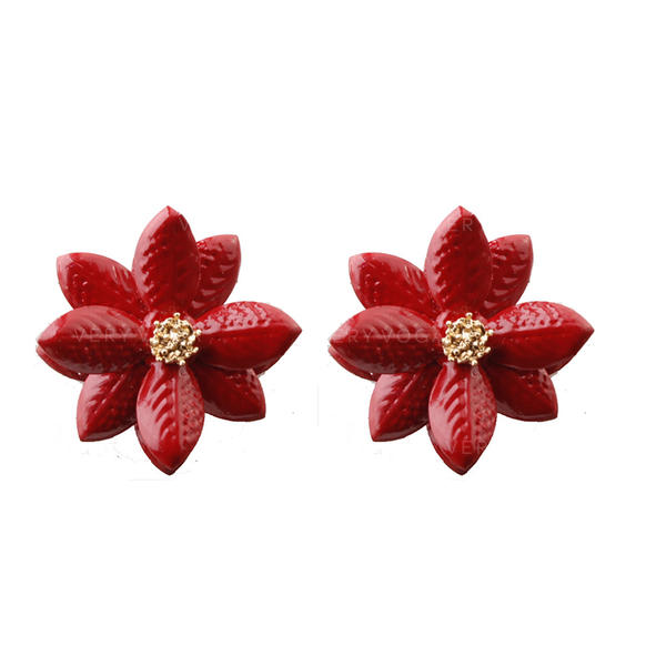 Çiçek Şekilli alaşım Kadın Küpeler