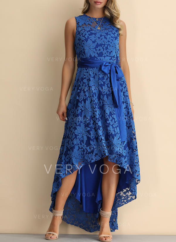 Lace Sleeveless A-line Asymmetrical Vintage/Party/Elegant Dresses