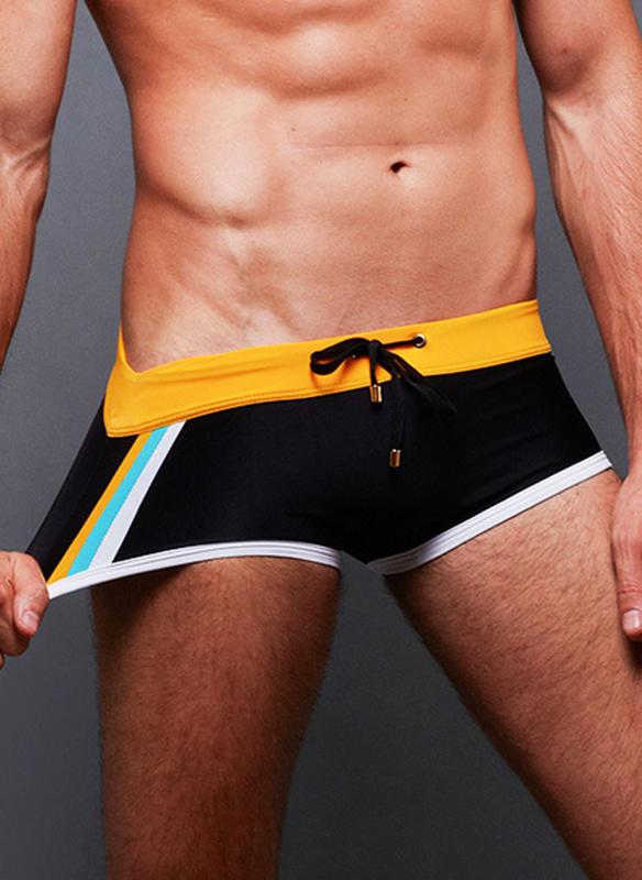 Men's Splice color Briefs Swimsuit