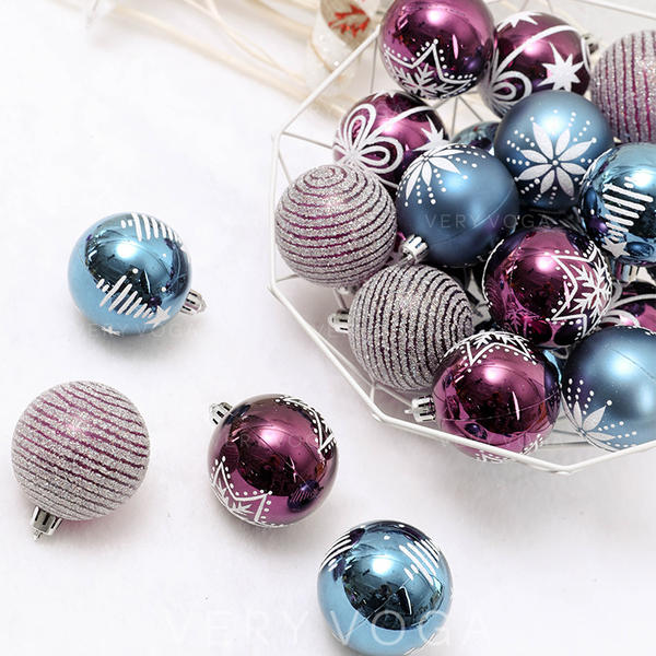 "feliz Natal 24 PCS 2.36"" PVC Decoração de Natal Bola (Conjunto de 24)"