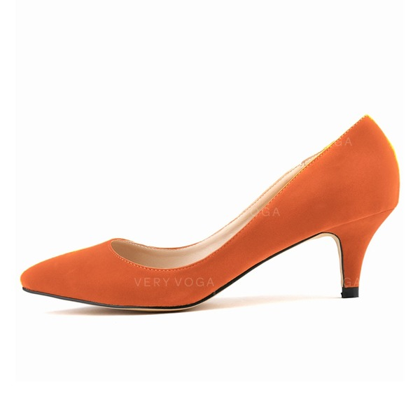 f8286d82fb8 Women s Suede Kitten Heel Pumps Closed Toe shoes (085059022) - Pumps ...