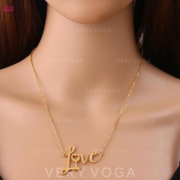 Classic Simple Titanium Steel Women's Necklaces